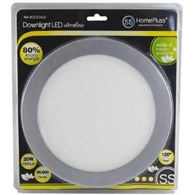 DOWNLIGHT LED PLANO 20W NIQUEL L/DIA